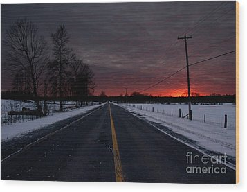 Road To Success Wood Print by Cheryl Baxter