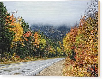 Road To The Clouds Wood Print