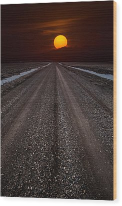 Road To The Sun Wood Print