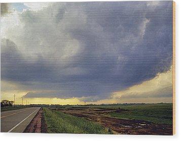 Road To The Tornado - Woonsocket South Dakota Wood Print by Jason Politte