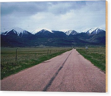 Wood Print featuring the photograph Road To Westcliffe by Carlee Ojeda