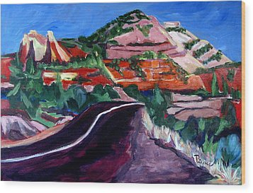 Road To Zion National Park Wood Print by Betty Pieper
