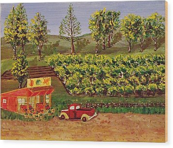Roadside Fruits And Veggies Wood Print