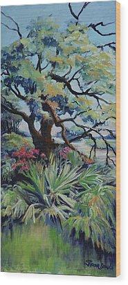 Roadside Garden Wood Print