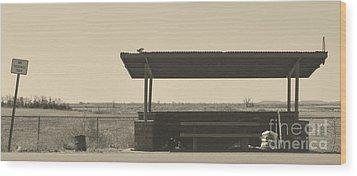 Roadside Rest Wood Print