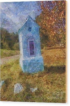 Roadside Shrine Wood Print by Mo T
