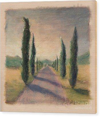 Roadway To Somewhere Wood Print by Logan Gerlock