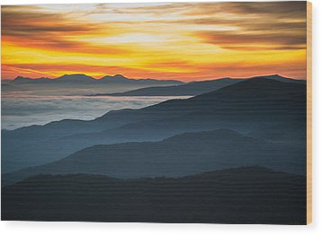 Wood Print featuring the photograph Roan Mountain Sunrise by Serge Skiba