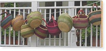Roanoke Baskets Wood Print by Cathy Lindsey