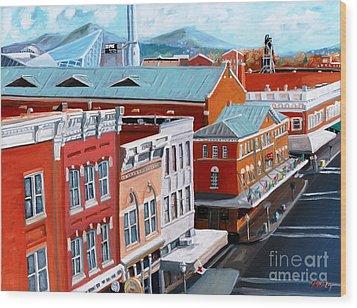Roanoke City Market Wood Print by Todd Bandy