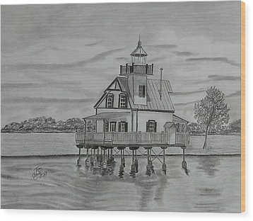 Roanoke River Lighthouse Wood Print