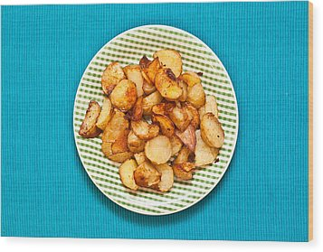 Roast Potatoes Wood Print by Tom Gowanlock
