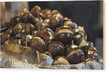 Wood Print featuring the photograph Roasted Chestnuts by Lilliana Mendez