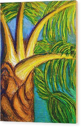 Wood Print featuring the drawing Roatan Revel by D Renee Wilson