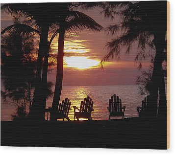 Roatan Sunrise Wood Print