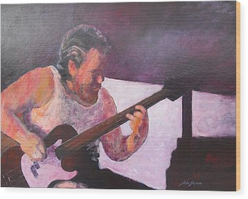 Wood Print featuring the painting Rob by John  Svenson