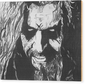 Rob Zombie Wood Print by Jeremy Moore