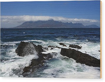 Robben Island View Wood Print by Aidan Moran