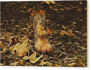 Robbie The Squirrel -1554 F Wood Print by James Ahn