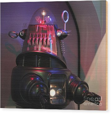 Wood Print featuring the photograph Robby The Robot 1956 by Cynthia Snyder