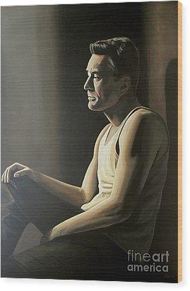 Robert De Niro Wood Print by Paul Meijering