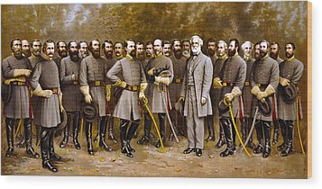 Robert E. Lee And His Generals Wood Print