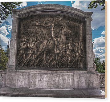 Robert Gould Shaw Memorial On Boston Common Wood Print