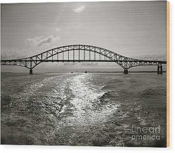 Robert Moses Bridge Wood Print by Paul Cammarata