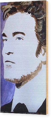 Robert Pattinson 219 Wood Print by Audrey Pollitt