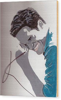 Robert Pattinson 48a Wood Print by Audrey Pollitt