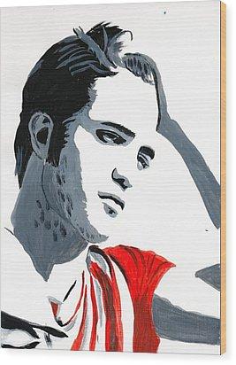 Robert Pattinson 77 Wood Print by Audrey Pollitt