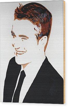 Robert Pattinson 87 Wood Print by Audrey Pollitt