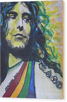 Robert Plant.. Led Zeppelin Wood Print by Chrisann Ellis