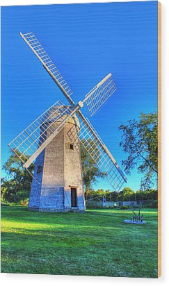Robert Sherman Windmill Wood Print