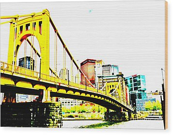 Roberto Clemente Bridge Wood Print