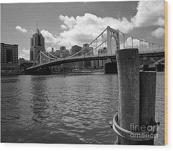 Roberto Clemente Bridge Pittsburgh Wood Print by Amy Cicconi