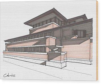 Robie House Wood Print by Calvin Durham