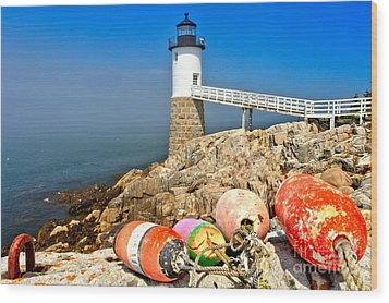 Robinson Point Lighthouse Wood Print by Adam Jewell