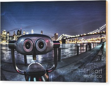Robot Views Wood Print by Andrew Paranavitana