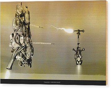 Robot Wars Wood Print