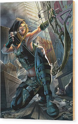 Robyn Hood 05a Wood Print by Zenescope Entertainment