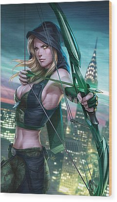 Robyn Hood Wanted 01a Wood Print by Zenescope Entertainment