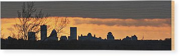 Rochester Skyline Wood Print by Richard Engelbrecht
