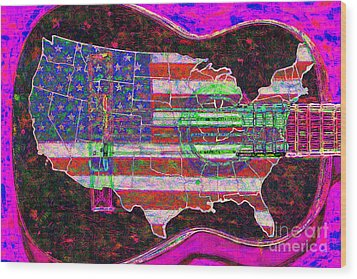 Rock And Roll America 20130123 Violet Wood Print by Wingsdomain Art and Photography