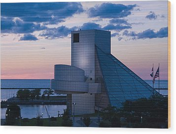Rock And Roll Hall Of Fame Wood Print by Dale Kincaid