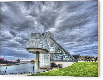 Rock And Roll Hall Of Fame Wood Print by Shawn Everhart