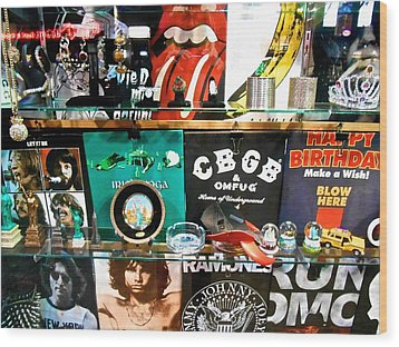 Rock And Roll On St. Marks   Nyc Wood Print by Joan Reese