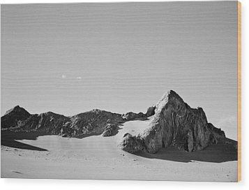 Wood Print featuring the photograph Rock And Sand by Lana Enderle
