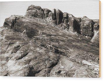 Rock Details Wood Print by John Rizzuto