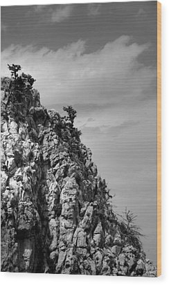 Rock Face At St. Hillarion Wood Print by Jim Vance